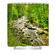Little River - Smoky Mountains Shower Curtain