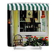 Little Rocking Chair By Antique Store Shower Curtain