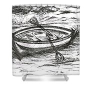 Little Rowing Boat Shower Curtain