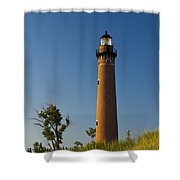 Little Sable Lighthouse On The Dune By Silver Lake Michigan No.560 Shower Curtain