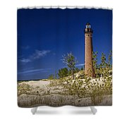 Little Sable Point Light No.0285 Shower Curtain