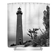 Little Sable Point Lighthouse IIi Shower Curtain