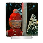 Little Santa Shower Curtain