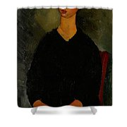 Little Servant Girl Shower Curtain by Amedeo Modigliani