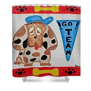 Little Sport Shower Curtain by Diane Pape