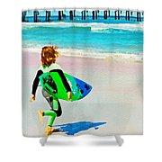 Little Surfer Dude Shower Curtain