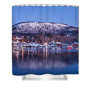 Little Town Of Camden Shower Curtain by Susan Cole Kelly