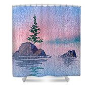 Little Trees Shower Curtain
