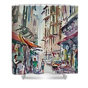 Little Trip At Exotic Streets In Istanbul Shower Curtain