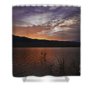 Little Washoe Sunset Shower Curtain