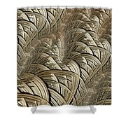 Litz Wire Abstract Shower Curtain