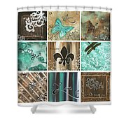 Live And Love By Madart Shower Curtain