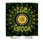 Live Green 1 Shower Curtain