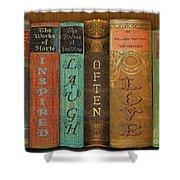 Live-laugh-love-books Shower Curtain