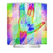 Live Long And Prosper 20150302v1 Color Squares Sq Shower Curtain