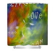 Live Love And Dream Shower Curtain