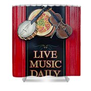 Live Music Daily Shower Curtain