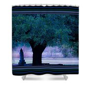 Live Oak Tree In Cemetery Shower Curtain