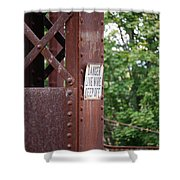 Live Wire Keep Off Shower Curtain