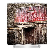 Livery Stable  Movie Set Shower Curtain