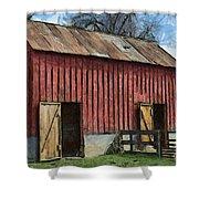 Livestock Barn Shower Curtain