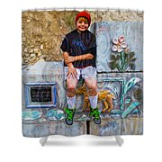Living And Loving Art Shower Curtain