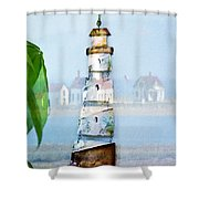 Living By The Sea - Pacific Ocean Shower Curtain