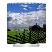 Living By The Sea Shower Curtain