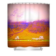 We Are Living Hillside As We Used To Do, Feeling Safe  Shower Curtain