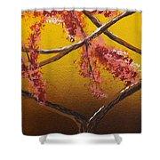 Living Loving Tree Bottom Center Shower Curtain