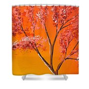 Living Loving Tree Top Right Shower Curtain