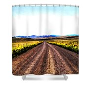 Living On Back Roads Shower Curtain