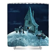 Living On The Moon Shower Curtain
