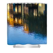 Living On The Water - 3 Shower Curtain