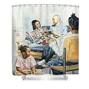 Living Room Serenades Shower Curtain