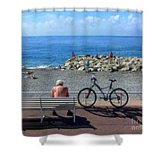 Living The Dream.nice.france Shower Curtain