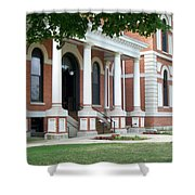Livingston County Courthouse 05 Pontiac Il Shower Curtain