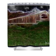 Livingston Manor Covered Bridge - Featured In Comfortable Art Group Shower Curtain