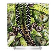 Lizard In Green Nature - Elena Yakubovich Shower Curtain