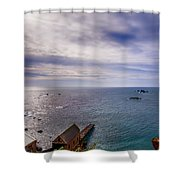 Lizard Point Cornwall Shower Curtain