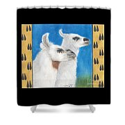 Llamas Tracks Farm Ranch Animal Art Camelid Shower Curtain