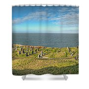 Llanbadrig Church Panorama Shower Curtain
