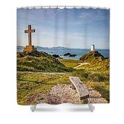 Llanddwyn Island Bench Shower Curtain