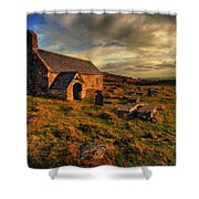 Llangelynnin Church Conwy Shower Curtain