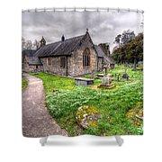 Llantysilio Church Shower Curtain by Adrian Evans
