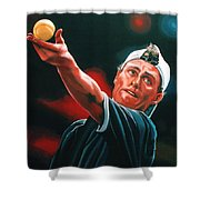 Lleyton Hewitt 2  Shower Curtain by Paul Meijering