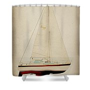 Lm Historic Sailboat Shower Curtain