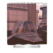 Loading A Cargo Pod Shower Curtain