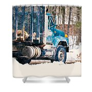 Loading Of Logs  Shower Curtain
