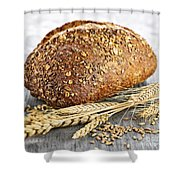 Loaf Of Multigrain Bread Shower Curtain